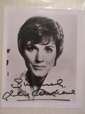 "JULIE ANDREWS 4"" x 5"" PRESS PHOTO PREPRINTED AUTOGRAPHED SIGNED"