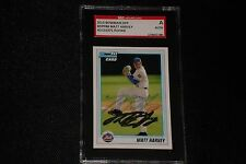 MATT HARVEY 2010 BOWMAN ROOKIE SIGNED AUTOGRAPHED CARD NY METS SGC AUTHENTIC