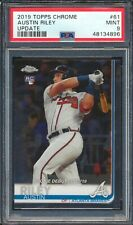 New Listing48134896 2019 Topps Chrome Update 61 Austin Riley Rc Rookie Debut Psa 9 Mint