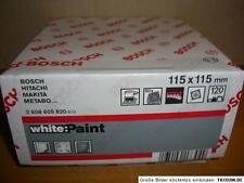 50x BOSCH Schleifpapier*115mm x 115mm*Bosch SCHLEIFPAPIER*K 120*P120*Neu*