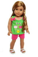 My Brittany's Flamingo Shorts Set for American Girl Dolls- 18 Inch Doll Clothes
