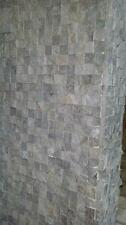 SILVER GRAY 1X1 split face marble for walls veneer cladding