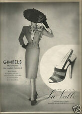40's Gimbels Fashion &  La Valle Shoe Ads 1945