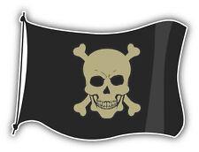 Pirate Flag Car Bumper Sticker Decal 5'' x 4''