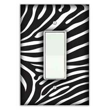 Zebra Print Decorative Rocker / Decora Light Switch Cover - Switch Plate