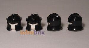 4x Lego Dark Knight Helmets, Black, for Castle, Kingdoms BRAND NEW 4226000