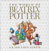 NEW Beatrix Potter Peter Rabbit 50p Fifty Pence 14 Coin Hunt Album  2016 - 2019