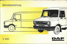 LKW DAF V 400 Betriebsanleitung 1991 Bedienungsanleitung Handbuch BA
