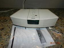 Bose AWR1-1W White Body Wave AM/FM Radio Alarm Clock  Music System AWESOME!