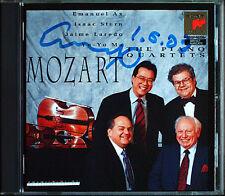 Emanuel AX Signiert MOZART Piano Quartet Yo-Yo MA Isaac STERN CD K.478 493 SONY