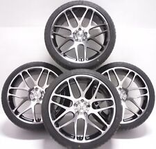 "4 18"" Alloy Wheels & Tyres VW T4 Transporter Van 5x112 x4 Polished Black bk170"