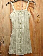 New LA Hearts Black & White Stripes Linen Summer Dress Sz X-Small