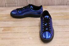 PUMA Basket Classic Explosive Metallic Sneakers, Men's Size 4, Blue NEW