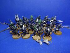 18 Krieger + Succubus + 2 schwere Waffen der Dark Eldar BEMALT