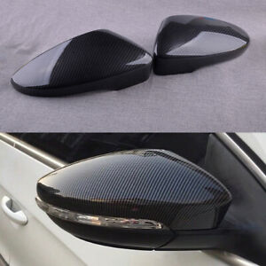 Carbon Fiber Stylr Door Side Wing Mirror Cover Cap fit for VW Beetle 12-18