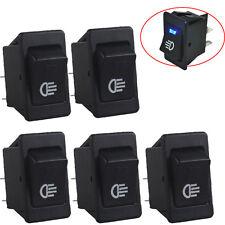 5 X 12V Car Fog Light Rocker Toggle Switch Blue LED Light Dash Dashboard Sales