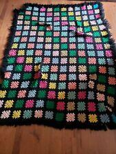 "Handmade crochet afghan / throw blanket 78"" x60"""