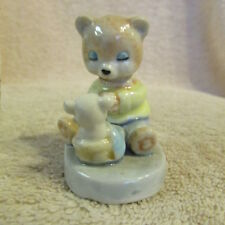 Vintage Bear Praying With Little Bear Porcelain Figurine