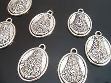 7 Colgantes Medianos Zamak Virgen del Rocio,abalorios,pendant,pendentif,anhänger