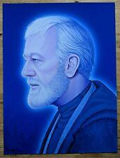 Obi Wan Kenobi (2017 Mondo) Star Wars Mike Mitchell 12x16 Giclee Print