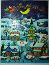 """Brother/Sister Design 500 Pc Jigsaw Puzzle Oversized """"Christmas Party"""""""