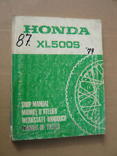 HONDA xl500 S Officina-manuale da 1979 _ SHOP MANUAL _ Manual D 'Atelier