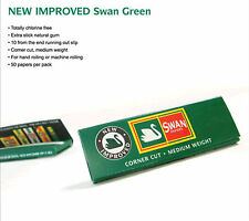 SWAN GREEN BRAND NEW SEALED BOX ROLLING PAPERS 100 PACKS OF 50 = 5000 ROLL UPS!!