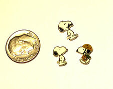 3 SNOOPY FLOATING LOCKET CHARMS MUSTACHE SNOOPY MILITARY SNOOPY