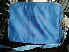 "VICTORIA'S SECRET LOVE PINK ROYAL BLUE CROSSBODY MESSENGER LAPTOP BAG 15"""