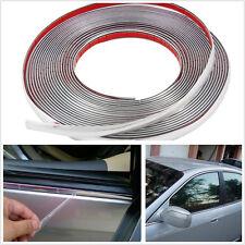 10M Silver Car Bumper Door Edge Lip Guard Protector Decor Decal Strip Universal