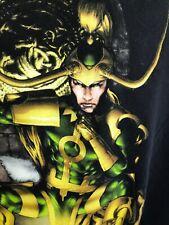 Marvel Loki Thor Avengers End Games Mens Black T Shirt Size L Black Cotton