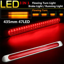 17inch 47 LED Dual Color Car Brake Tail Light Bar Flowing Signal Turn Light Lamp