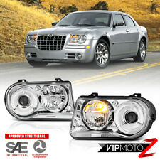 For 05-10 Chrysler 300C FACTORY STYLE Chrome Clear LEFT RIGHT Headlight Assembly