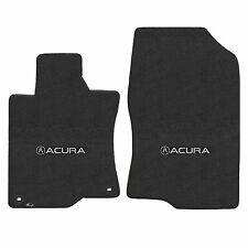 Tsx 2009-2014 2Pc Car Floor Mats Carpet Black Ebony Velourtex Acura A Logo