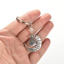 Geschenk für Mama - Rose Silber Herz & Mond Mom KeyChain 9U