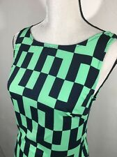 Orange Caramel Green Blue maxi A Line summer dress size Small S Sleeveless C