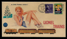 Lionel 408E Engine With Pin Up Girl Featured on Xmas Collector's Envelope XS251