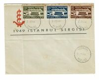 Turkey 1949 Sergisi First Day Cover / Light Toning / Folded - Z164