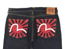 Mens Evisu Selvedge Denim Jeans Japan Blue Lot 0200 Size W38