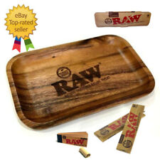 RAW Smoking Papers Brand Wooden Rolling Tray - Limited Edition