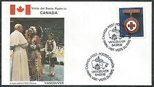 1984 VATICANO VIAGGI DEL PAPA CANADA VANCOUVER - RM3