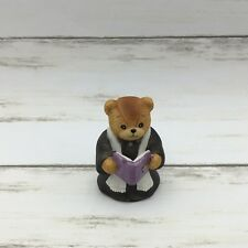 1986 Enesco Lucy & Me Teddy Bear Figurine Wedding Minister