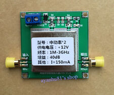 1MHz-3GHz UHF 2.4G Broadband Low Noise Amplifier RF LNA Amp Module 40DB VHF HF