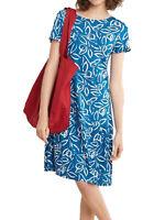 NEW SEASALT Carvel Dress  Blue Painterly Leaf Cargo RRP was £52.95 size 8 & 10