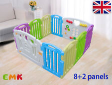 8 2 Side Plastic Baby Playpen Mixed Colors Play Pen With Education Functions UK