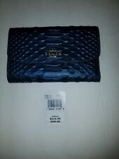 NWT Coach PYTHON Medium Envelope Wallet in Metallic Denim F39114