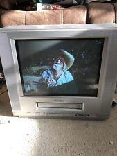 "Toshiba VTV1534 Pantalla Vintage 14"" Vhs Cubo Tv Combo Retro Gaming Monitor de vídeo"