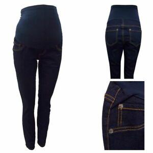 Maternity Next Over Bump Jeggings Jeans Blue Indigo Sizes 8 - 16 BM42