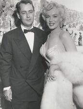 MARILYN MONROE ORIGINAL VINTAGE 1954 PHOTO W/ ALAN LADD