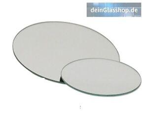 Spiegel 3mm rund ab 5cm Spiegelfliesen Spiegelplatte Kreis Zuschnitt Untersetzer